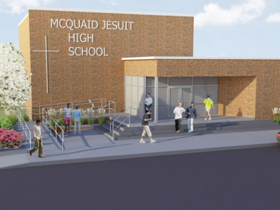 McQuaid HS Front Entrance